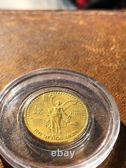 1/10 oz Gold Libertad Mexico 1992 Scarce BU Mint Very Rare