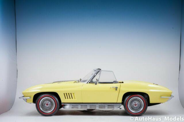 1/12 Franklin Mint Yellow 1967 Corvette Convertable Very Rare