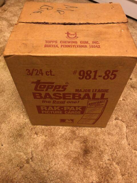 1 Very Rare Factory Sealed 1985 Topps Baseball Rak Pak Box Case, 3/24 Ct, Mint