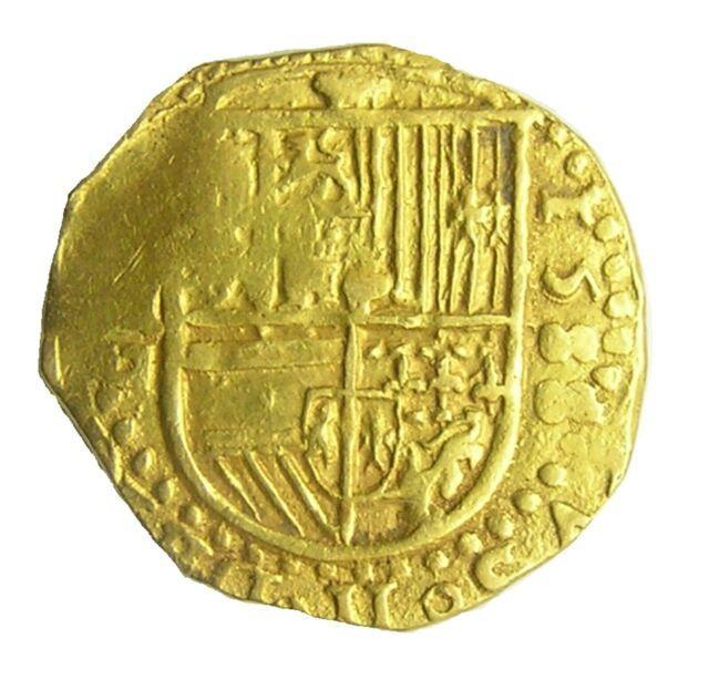 1588 Gold Spanish Armada 2 Escudos Of King Philip Ii Seville Mint Very Rare