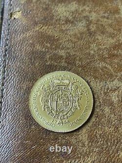 1758 1 Gold Ducat Coin Liechtenstein Very Rare Low Minted Beautiful coin