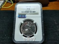 1877 NGC PF62 Seated Liberty Half Dollar (510 MINTED) VERY RARE