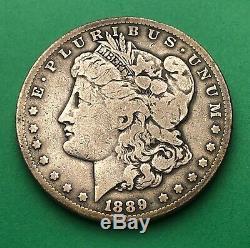 1889 CC Carson City Mint $1 Morgan Silver Dollar (VG) VERY RARE