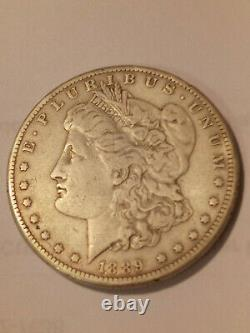 1889 cc morgan silver dollar very rare coin only 350,000 minted