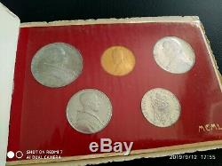 1950 Vatican Mint Set With 100 Lire Gold B/U VERY RARE