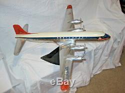 1950's Northwest Airlines Cast Aluminum DC6 Airplane Original, Very Rare, Mint
