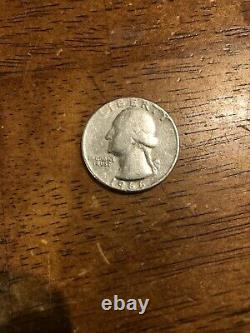 1966 Liberty Washington Quarter Dollar US Collectors Coin No Mint Mark VERY RARE