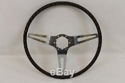 1969 Camaro Early N34 Walnut steering wheel, Very rare mint original, Z/28 RS SS