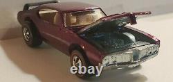 1969 Very Rare HOT WHEELS REDLINE OLDS 442 Magenta MINT GEM BEAUTY High Grade