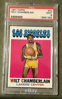 1971 Topps #70 Wilt Chamberlain Psa 9 Mint Hof (very Rare)