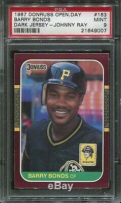 1987 Donruss Opening Day #163 Barry Bonds Rookie Error psa 9 Mint Very Rare