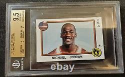 1987 Panini Stickers #141 Michael Jordan Basketball Bgs Gem Mint 9.5 Very Rare