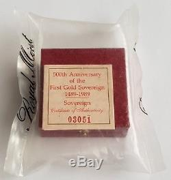 1989 Royal Mint Gold Proof Sovereign Still Rm Sealed! Very Rare