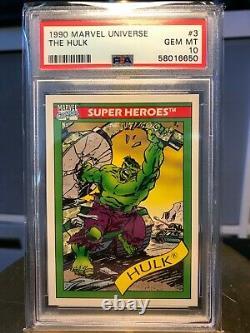 1990 Marvel Universe HULK #3 PSA 10 GEM MINT LOW POP VERY RARE, Invest now