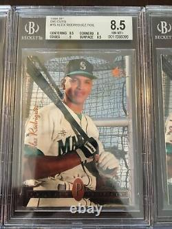 1994 Alex Rodriguez SP die cut lot of (9) VERY RARE cards! All bgs 8.5