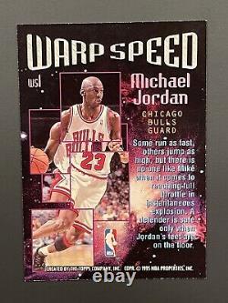 1995-96 TOPPS STADIUM CLUB WARP SPEED MICHAEL JORDAN Very NiceMintRare