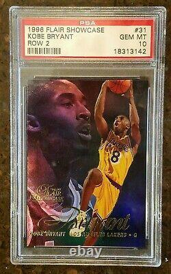1996-97 Flair Showcase Row 2 #31 Kobe Bryant RC Rookie PSA 10 GEM MINT Very Rare