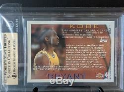 1996-97 Topps #138 Kobe Bryant RC Rookie BGS Quad 9.5 GEM MINT (wow) Very Rare