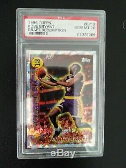 1996 Topps Very Rare PSA 10 Draft Day Redemption Lucky 13 Kobe Bryant #DP13 RC