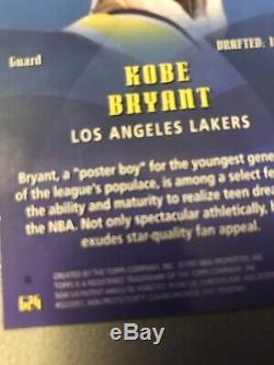 1997-98 Kobe Bryant Topps Generations Die Cut Refractor Very Rare! Mint G24