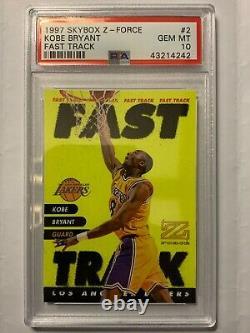 1997 Skybox Z-Force Fast Track Kobe Bryant #2 PSA 10 GEM MINT Insert Very Rare
