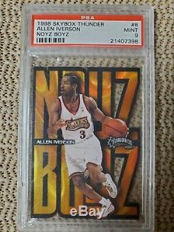 1998-99 Skybox Thunder Noyz Boyz Allen Iverson PSA Mint 9 Very Rare SP