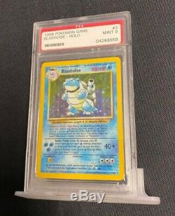 1999 Pokemon Base Set Blastoise Holo 2/102 PSA 9 Mint RARE RED DOT ERROR! BEAUTY