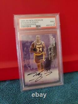 1999 Skybox Premium Shaquille O'Neal Autographics Graded PSA mint 9 (very rare)