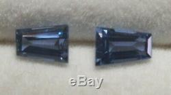 2 very rare YOGO Sapphire gems CORNFLOWER Blue NATURAL gems 0.40ctw (Lot Y03)