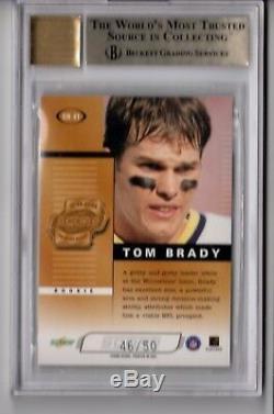 2000 Score Tom Brady Rookie Roll Call Auto /50 Rc Bgs 9.5/10 Gem Mint Very Rare