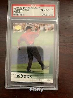 2001 Upper Deck Golf Tiger Woods PROMO PSA 10 GEM MINT (Very RARE)