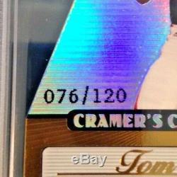 2002 Pacific Tom Brady Cramers Choice Award Ser #ed /120 Psa 9 Mint Very Rare