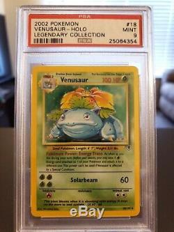 2002 Pokemon Legendary Venusaur Holo MINT PSA 9 Very Rare Card 18/110