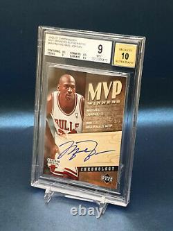 2006-07 Michael Jordan Chronology Mvp Winners Auto Very Rare Bgs 9 Mint #d/50