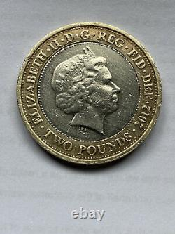 2012 Charles Dickens £2 Coin Double Minting Error VERY RARE Great Condition