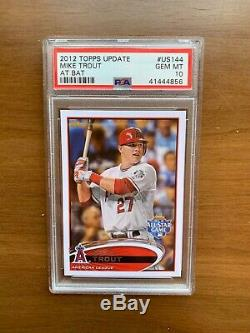 2012 Topps Update Mike Trout At Bat #US144 Gem Mint PSA 10 VERY RARE