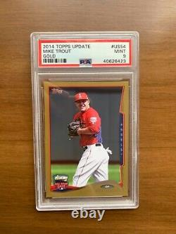 2014 Topps Update Mike Trout Gold /2014 #US54 Mint PSA 9 VERY RARE