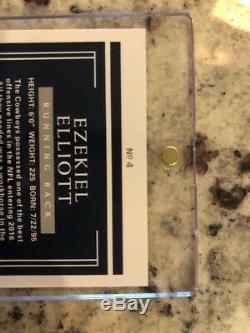 2016 National Treasures Ezekiel Elliott RC 1/1 Full On Card Auto Very Rare Mint