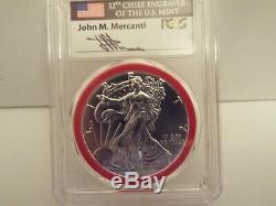 2016-(S) $1 Silver Eagle PCGS MS70 MERCANTI MINT ENGRAVER SERIESVERY RARE