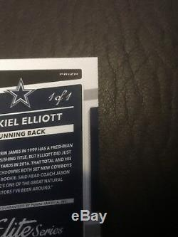 2017 Optic Ezekiel Elliott Gold Prizm Auto 1/1. Ture 1/1 Mint! Cowboys Very Rare