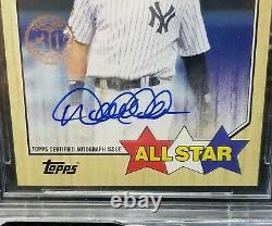2017 Topps'87 Autographs Derek Jeter All-Star BGS9/10 Very Rare SP Mint Yankees