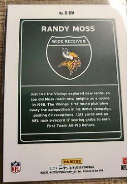 2020 Donruss DOWNTOWN Randy Moss Vikings CASE HIT! VERY RARE MINT. 1/1 ON EBAY