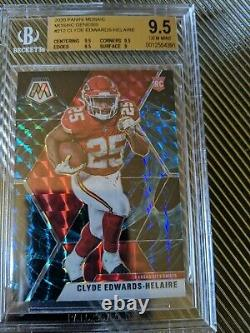 2020 Mosaic Clyde Edwards-Helaire GENESIS RC Ultra Rare SSP BGS 9.5 VERY HOT