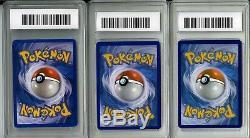 (3) Pokemon Card Lot Charizard All Graded GEM MINT 10 VERY RARE! GO