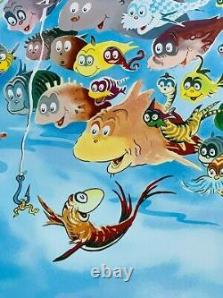 A Plethora Of Fish Dr. Seuss Art (Ted Geisel) Secret Art Very Rare! MINT