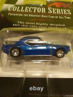 Afx Tomy Mega G 1969 Camaro Blue White Stripe Mint Nos Sealed Very Rare #0171oop