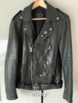 AllSaints Volt Lamb Leather Biker Jacket Medium VERY RARE Mint Condition