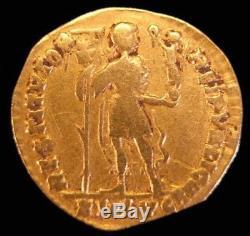 Ancient Roman Gold Coin, Valentinian I Lyon Mint, 364-375 A. D. Very Rare Coin