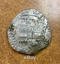 Atocha 8 Reales GRADE 1 Assayer R POTOSI Mint Philip III VERY RARE COIN With COA