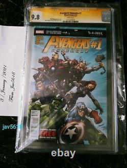 Avengers Assemble #1 Cgc 9.8 Ss. Lee, Marvel Black Widow Very Rare, Mint
